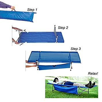 Camp Time Roll-a-Cot , USA Made, Compact, Portable, Roll up