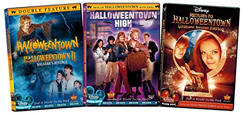 Halloween Town Movie Set (The Complete Witches Series Halloweentown Disney Halloween Magic 1 & 2 Kalabar's Revenge + Halloweentown High School & Return to Halloweentown Teen family fun 4 Feature Movies Treat)