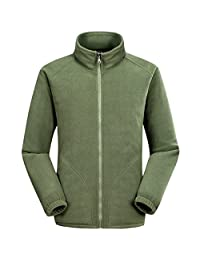 Partiss Men's Long Sleeve Full-Zip Fleece Jacket