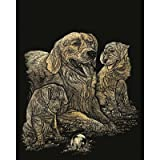 Bulk Buy: Royal Brush Gold Foil Engraving Art Kit 8''X10'' Golden Retriever & Puppies GOLF-11 (3-Pack)