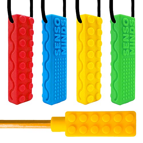 Chew Necklace Bundle – Silicone Chewies – Great Tool for Sensory, Autism, ADHD, Biting, Oral Motor – Chewy Stick/Tube…