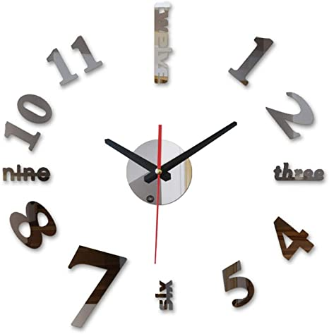 Amazon Com Wfuby Wall Clock Special Wall Clock Watch Clocks Large Decorative Quartz Living Room Modern Diy Stickers 37inch Home Kitchen