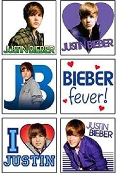 Justin Bieber Temporary Tattoos (2 Dz) by SandyLion: Amazon.es ...