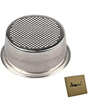 IKBEN Coffee 51mm Filter Espresso Basket – Double Cup Non Pressurized Porous, Stainless Steel Coffee Machine Accessories