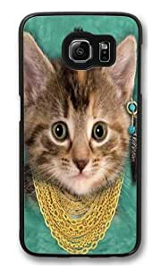 Bad Attitude Kitten PC Case Cover for Samsung S6 and Samsung Galaxy S6 Black
