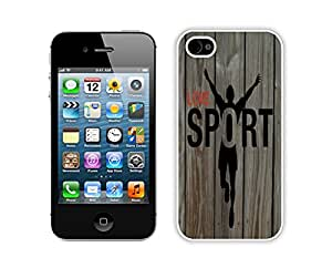 Newest Design I Love Sports Iphone 4s Case White Iphone 4 Cell Phone Cover