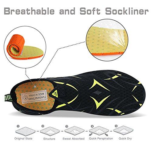 Chaussures Plage Plonge Bain Eau Pour Surf Femmes Schage Piscine Hommes noir 2 Rapide amp; Ummaid De La Yoga Vert Aquatiques xzOWtAgffn