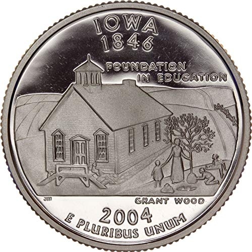2004 S Iowa State Clad Proof Quarter PF1