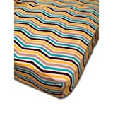 Babee Talk Organic Eco-Dreams Crib Sheet - Chevron