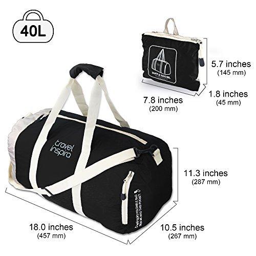 Amazon.com  travel inspira Foldable Duffel Travel Duffle Bag Collapsible  Packable Lightweight Sport Gym Bag  Sports   Outdoors 4229967b4a41a