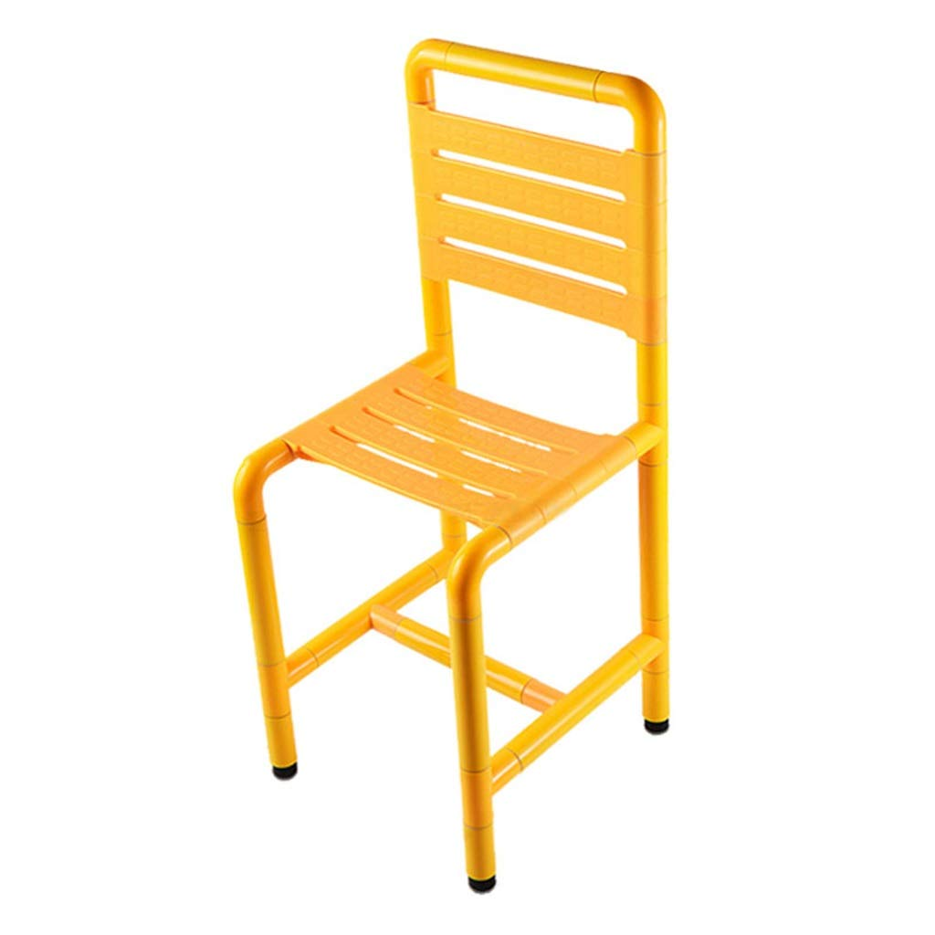 Non-Slip Shower Chair with Backrest Shower Stool Pressure Resistant High Temperature Waterproof Medical Bathroom Seat 304 Stainless Steel