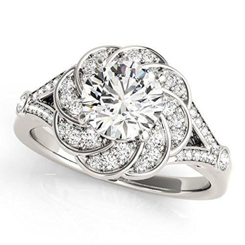 Huge 0.97 ct J-K Moissanite Engagement wedding Ring 925 Sterling Silver by MoissaniteMart