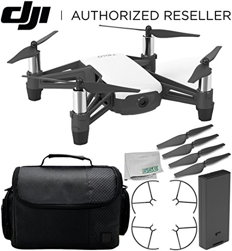Ryze Tello Quadcopter Drone with HD Camera and VR – Powered by DJI Technology and Intel Processor Starter Travel Bundle