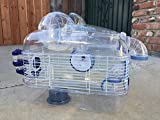 NEW Transparent Habitat Hamster Rodent Gerbil Mouse Mice Cage With Large Exercise Ball