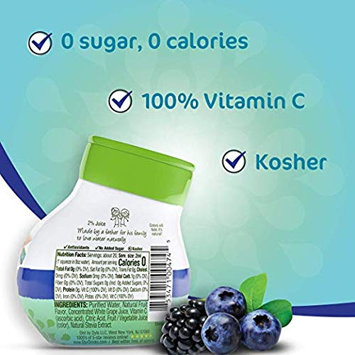 Stur - Classic Variety Pack, Natural Water Enhancer (5 Bottles, Makes 100 Flavored Waters) - Sugar Free, Zero Calories, Kosher, Keto Friendly Liquid Drink Mix Sweetened with Stevia