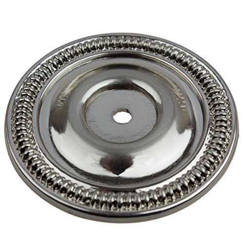 GlideRite Hardware 5060-SN-10 2.5 inch Round Satin Nickel Cabinet Back Plate 10 Pack (Only Backplate Knob)