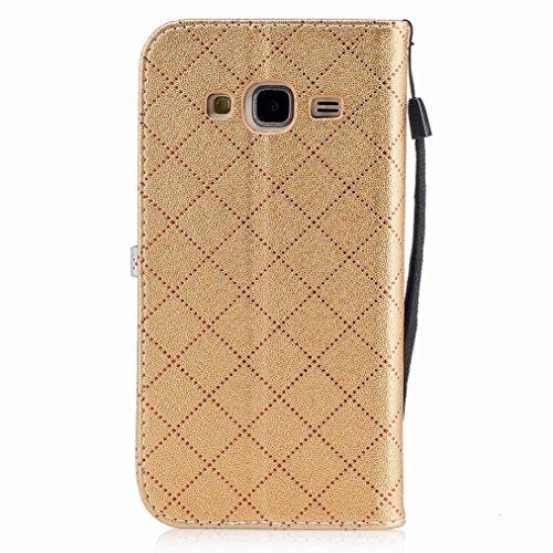 Yiizy Samsung Galaxy J3 (2016) / J320F / J320A / J320P Custodia Cover, Amare Design Sottile Flip Portafoglio PU Pelle Cuoio Copertura Shell Case Slot Schede Cavalletto Stile Libro Bumper Protettivo Bo