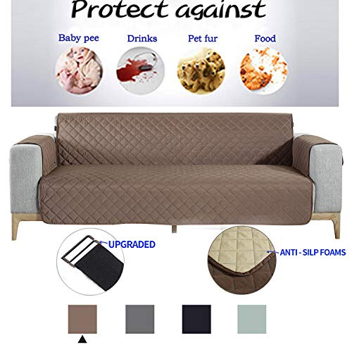 NEKOCAT Sofa Cover,100% Waterproof Nonslip Quilted Furniture Protector Slipcover,Seat Width to 78