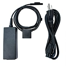 GOOQ® Magnetic Mobile Power Charger AC Adapter for Microsoft Surface PRO 3 12 Inch Tablet Special Designed with a 5V 1A USB Charge Port (pro 3 three holes charger)