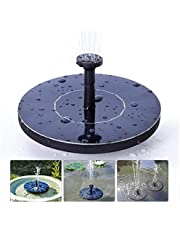 Solar Fountain Pump 1.5W Upgraded Submersible Solar Water Fountain Panel Kit for Bird Bath,Small Pond,Garden and Lawn