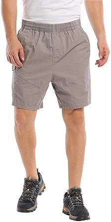 Debe way pantalones cortos casuales ligeros y cómodos pantalones cortos elásticos de la cintura a pie de carga cortos planos delanteros chinos cortos