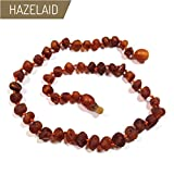 Hazelaid (TM) 12'' Pop-Clasp Baltic Amber Nutmeg Necklace
