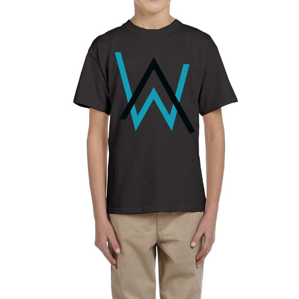 Edward Beck Teens Round Neck Tshirt Alan Walker Logo Fashion Classic Style Black