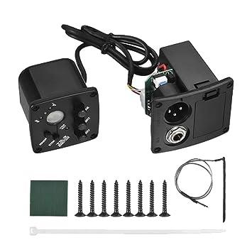 Sguan-wu Amplificador de volumen de tono de ecualizador de guitarra acústica clásica de 2 bandas para pickup E-2T - Negro: Amazon.es: Instrumentos musicales