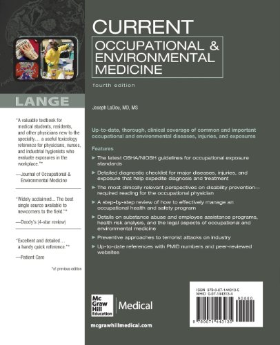 CURRENT Occupational & Environmental Medicine: Fourth Edition (Current Occupational and Environmental Medicine)