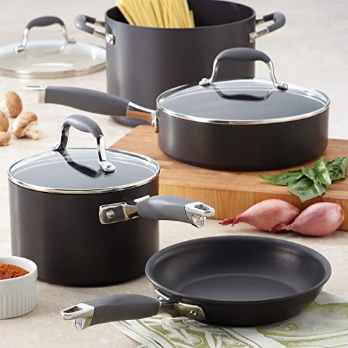 Anolon Advanced Hard-Anodized Nonstick Covered Straining Saucepan with Pour Spouts, 2 quart, Gray by Anolon (Image #11)