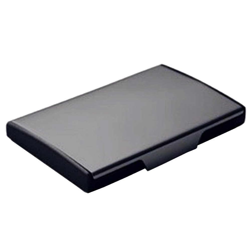 Amazon.com : Black Titanium Stainless Steel Card Case Credit Card ...