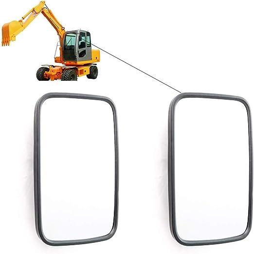 governingsoldiers 2 X Universal Retrovisor, Espejo Exterior 255X 163 Mm Espejo Laterales para Camiones Caravanas Tractor Excavadora Maquinaria AgríCola,Doublelens: Amazon.es: Jardín