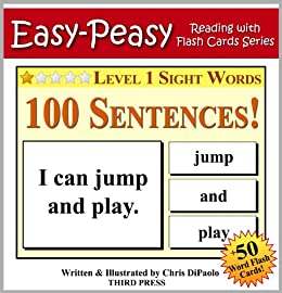 level 1 sight words 100 sentences with 50 word flash cards easy peasy