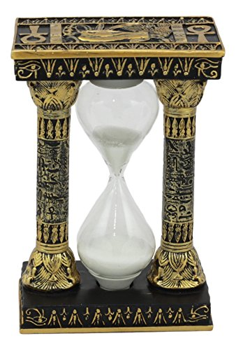 (Ebros Egyptian Gods Eye Of Horus And Ankh Hieroglyphic Column Sand Timer Desktop Figurine 6