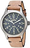 Best Field Watches - Timex Men's TW4B01700 Expedition Scout Brown/Gray Leather Strap Review
