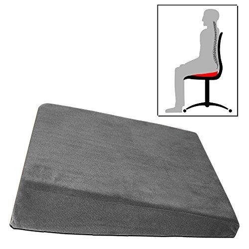 Keilkissen - Ergonomisches Sitzkissen Sitzkeilkissen schwarz weiß grau hellgrün lila braun (anthrazitgrau)