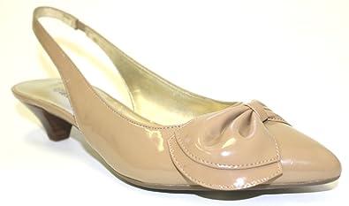 213c661b8cf Anne Klein Women s Shoes Pansy Slingback Dress Pumps Kitten Heel Md NATUTAL  ...