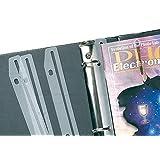 Baumgartens 3 Ring Magazine/Catalog Organizer Strips -3xHoles -12/Pack -Clear