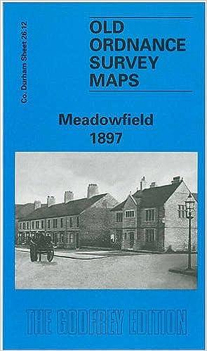 Old Ordnance Survey Maps Langley Moor Brandon Colliery Co Durham 1897 Godfrey Ed