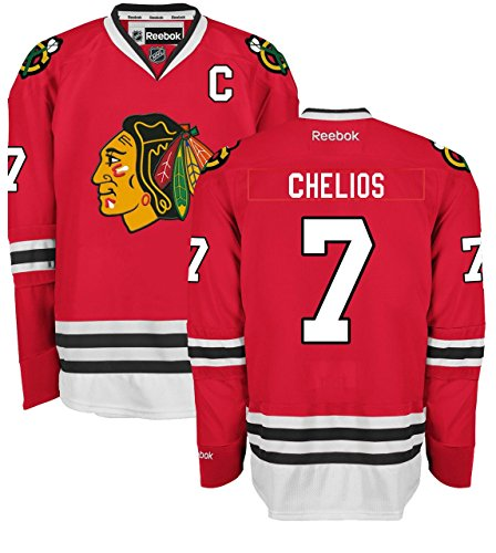 Chris Chelios Chicago Blackhawks Home Red Premier Jersey by ()