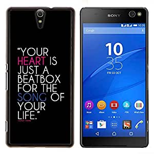 YiPhone /// Prima de resorte delgada de la cubierta del caso de Shell Armor - Su corazón es un cuadro de golpe - Sony Xperia C5 Ultra