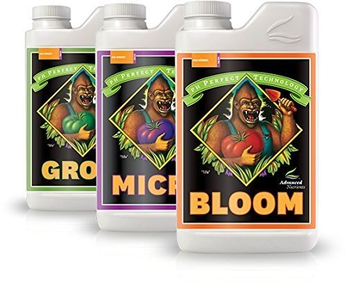 Advanced Nutrients Bloom, Micro & Grow, Pack of 3, 1 L Each (Nutrients Soil Advanced)
