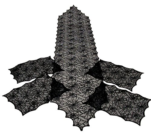 Spiderweb Black Table Runner Placemats product image