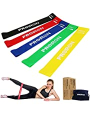 PROIRON Resistance Loop Bands, Exercise bands Set of 5 Rubber Latex Anti-Slip Resistance Band with 5 Different Resistance Levels for Workout, Stretching, Physical Therapy, Yoga and Home Fitness with carrying Bag