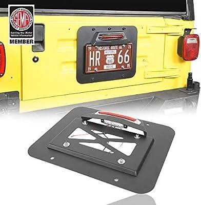 u-Box Jeep Wrangler Tailgate Vent Cover Spare Tire Delete Plate for Jeep Wrangler TJ 1997-2006