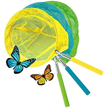 "KOVOT Set Of 3 Telescopic Butterfly Nets - 15"" - 34"""