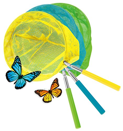 KOVOT Set Of 3 Telescopic Butterfly Nets - Extends From 15