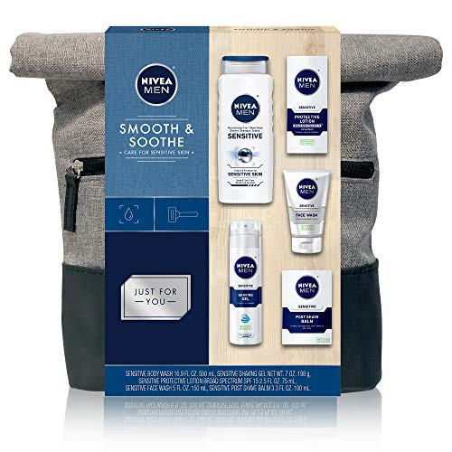 NIVEA Men Dapper Duffel Gift Set - 5 Piece Collection Of On-The-Go Grooming Needs with Travel Bag Included 1