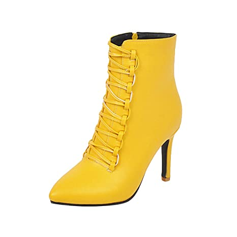Goosun Women\u0027s Leather Ankle Boots Pointed Toe Mid Kitten
