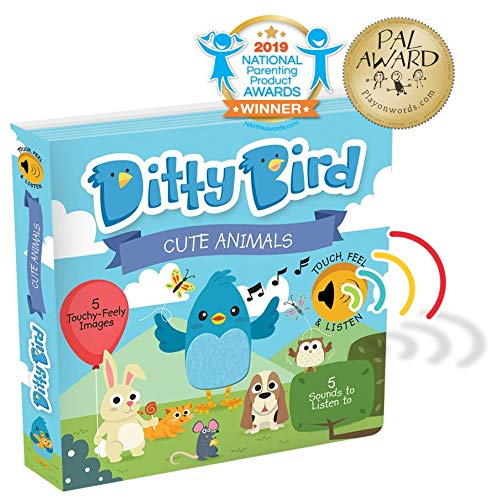 Interactive Cute Animals Sound Book. Listen, Touch and Feel Baby Books for Girl and Boy. Educational Toy for Babies, 1 Year Old and Toddler.